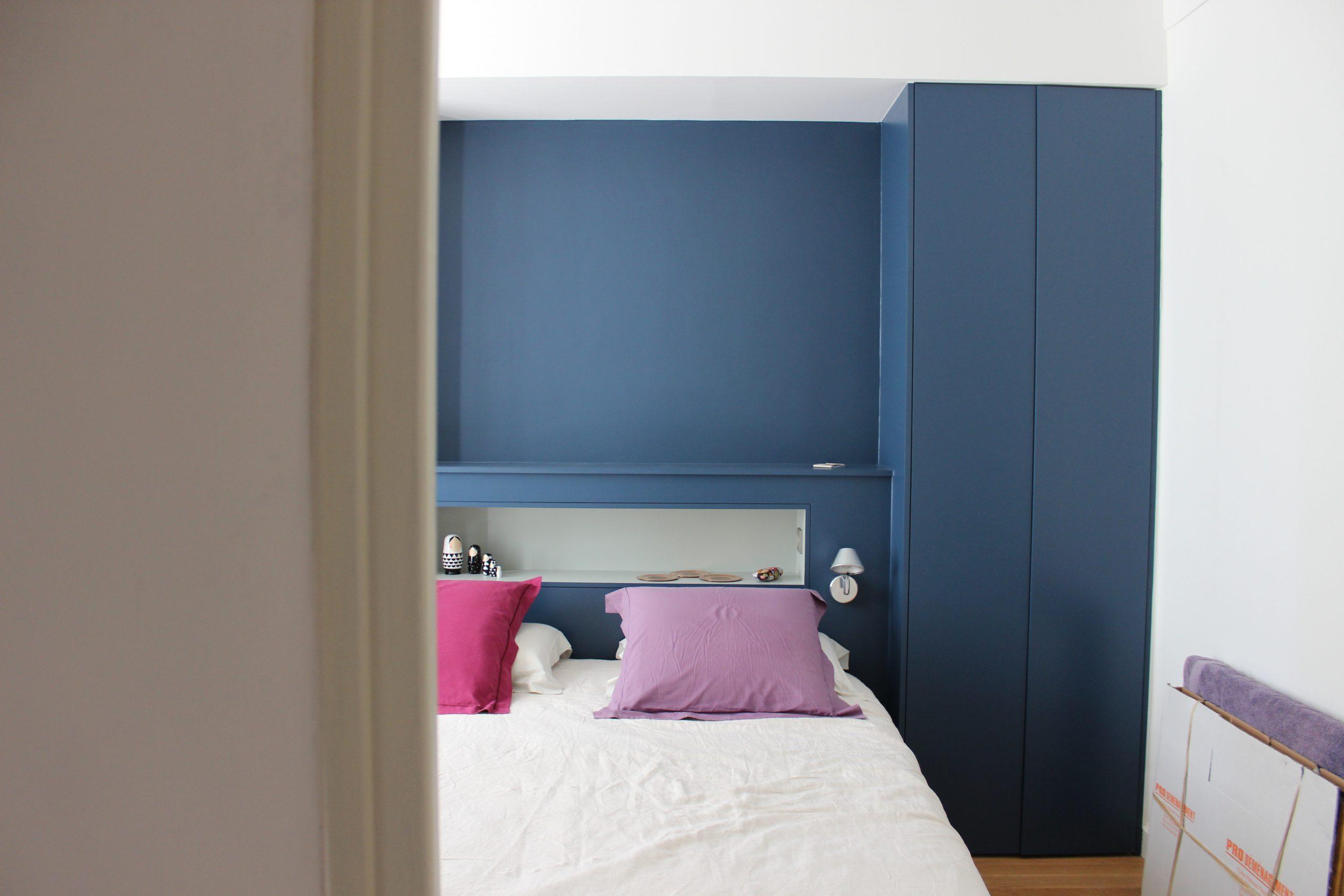 architecte chambre bleu