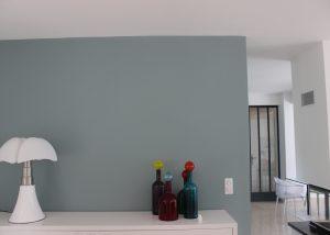 architecte mur coloré dans salon