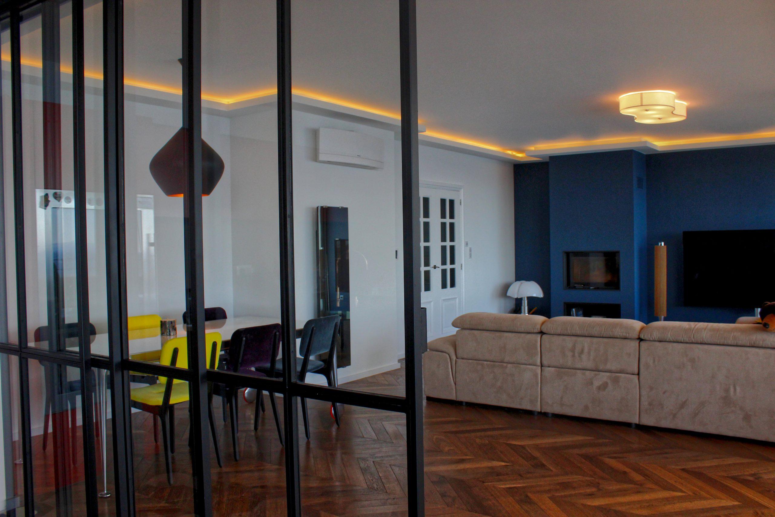 architecte salon avec verrière